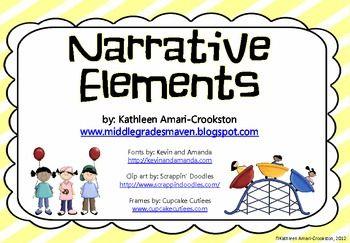 Cute Narrative Elements Resources