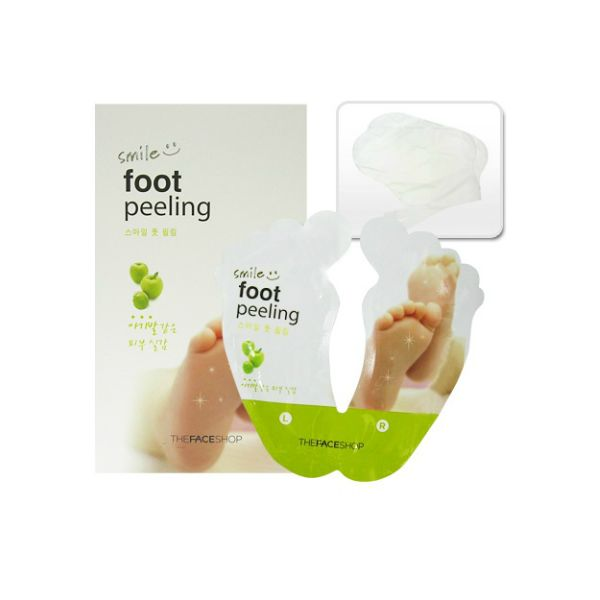 Don't be grossed out when you google this gem! It will shed an entire winter's worth of hard dry skin off your feet - the payoff is worth the week the process takes to work THE FACESHOP Smile Foot Peeling