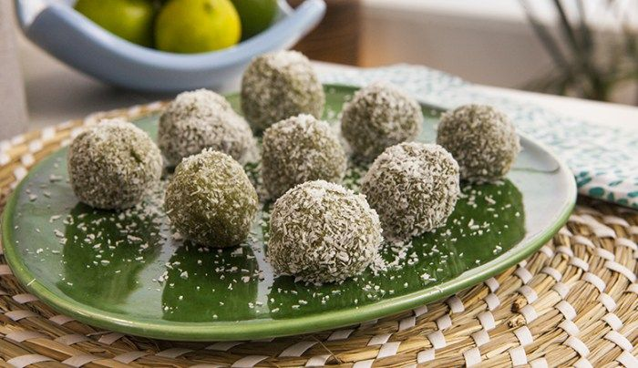 Lemony Green Bliss Balls - Good Chef Bad Chef