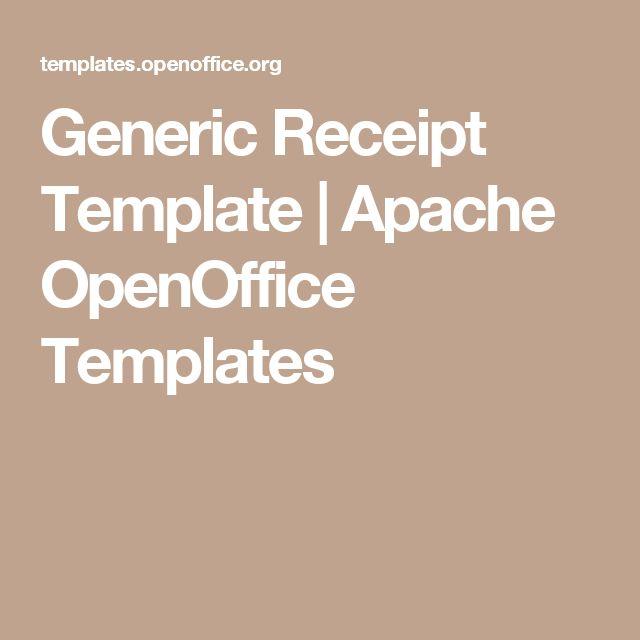 25 Best Ideas about Openoffice Templates – Receipt Template Open Office