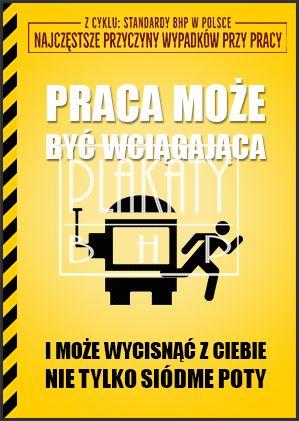 """Kto ma wciągającą pracę?  Łapka w górę!  Gdy jednak macie do czynienia z obsługą maszyn - bądźcie ostrożni. Pamiętajcie: """"Maszyny nie mają mózgów - używajcie własnego""""!"""
