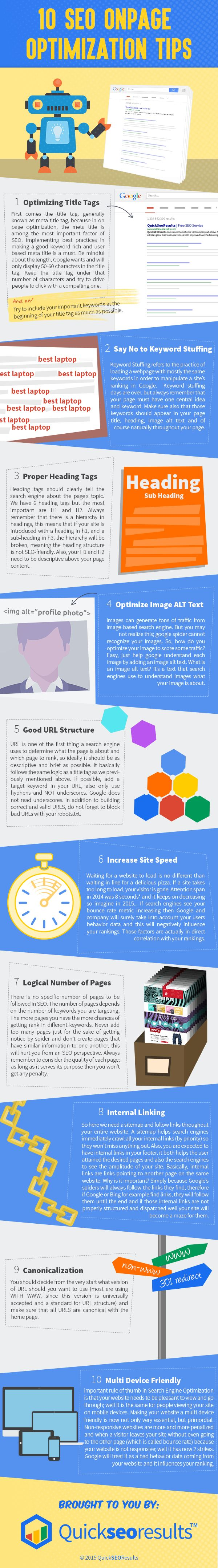 10 SEO Onpage Optimization Tips #infographic #SEO http://www.intelisystems.com/resources/case-study/ @marcomznetworks
