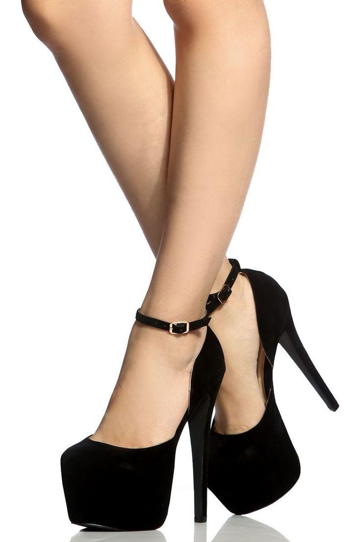 Black Faux Suede Platform Stilettos @ Cicihot Heel Shoes online store sales:Stiletto Heel Shoes,High Heel Pumps,Womens High Heel Shoes,Prom Shoes,Summer Shoes,Spring Shoes,Spool Heel,Womens Dress Shoes