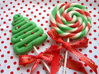 Christmas Lollipops Cookies.