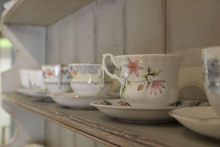 China tea cups at Hattie's Baslow www.hattiesbaslow.co.uk