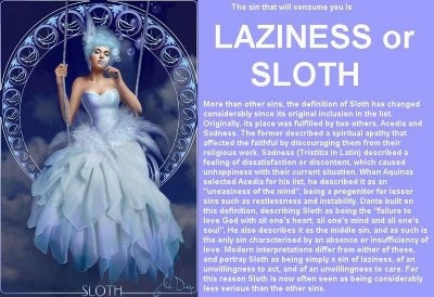 This is the definition of Sloth.  One of the seven deadly sins.