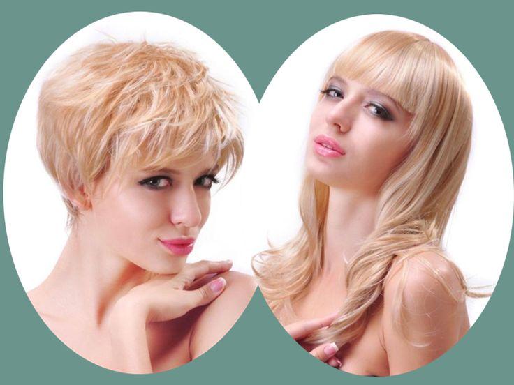 vorher nachher Frisuren mit Clip in Haarverlängerung