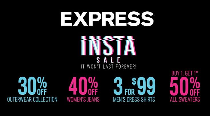 Online Only! Buy 1, Get 1 50% #Off Womens Sweaters.  Store : #Express Scope: Entire Store   Ends On : 10/23/2016    Get more deals: http://www.geoqpons.com/Express-coupon-codes?page=2&lmt=25&sp=26  Get our Android mobile App: https://play.google.com/store/apps/details?id=com.mm.views    Get our iOS mobile App: https://itunes.apple.com/us/app/geoqpons-local-coupons-discounts/id397729759?mt=8