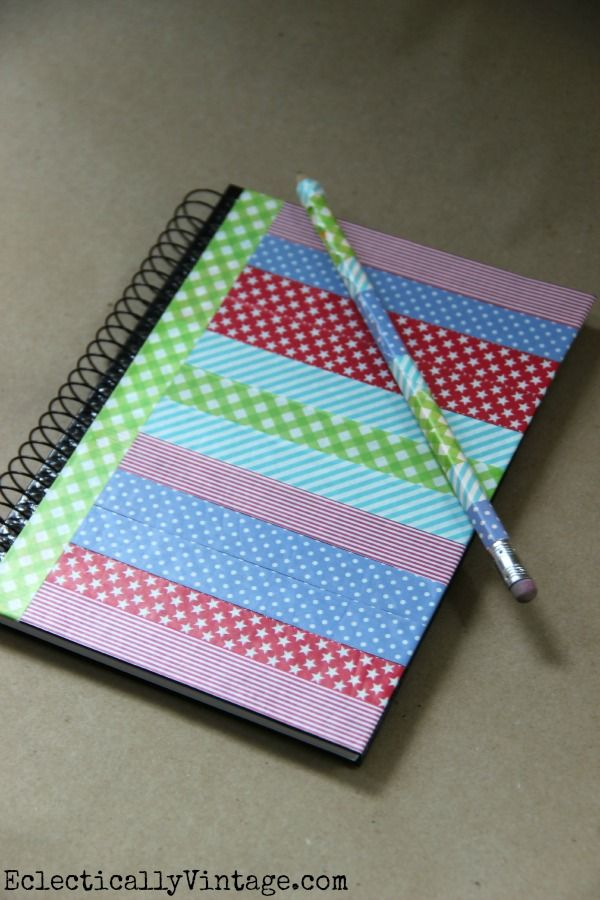 Washi Tape Book Cover Ideas : Best ideas about washi tape notebook on pinterest