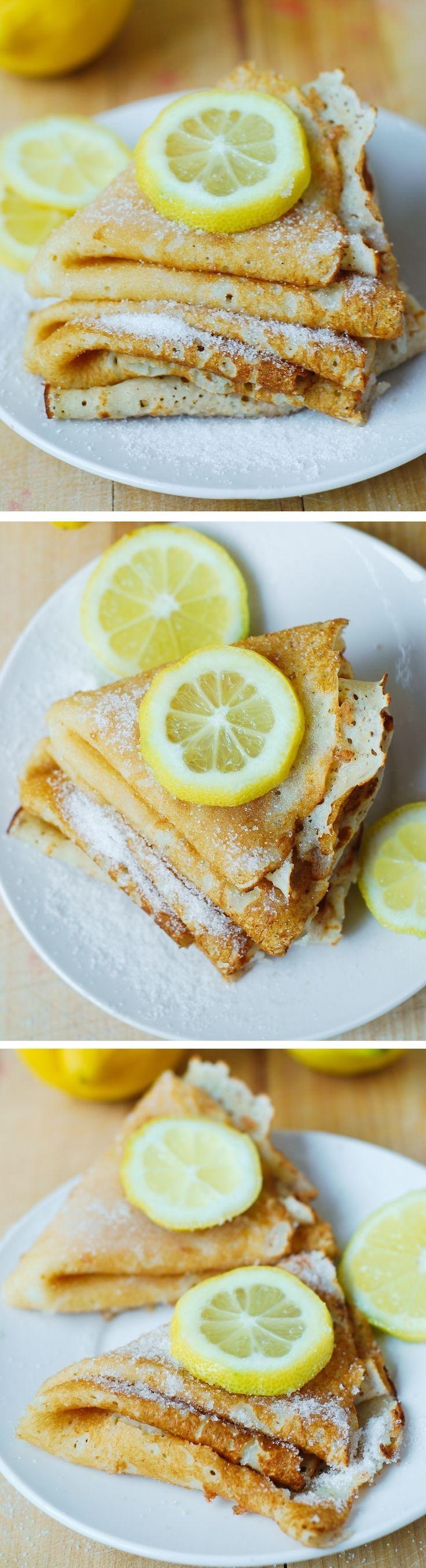 Lemon Sugar Dessert Crepes