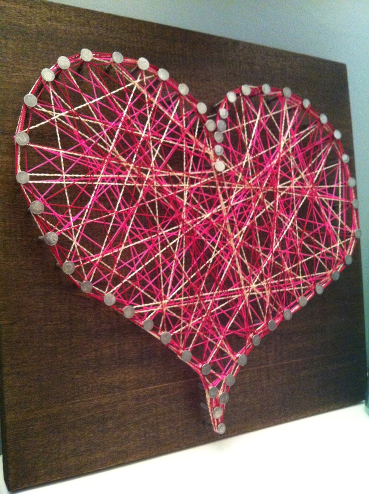 78 best string art nail and yarn images on pinterest string art spikes and thread art. Black Bedroom Furniture Sets. Home Design Ideas