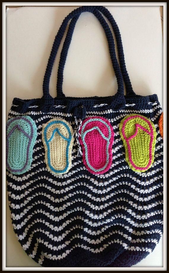 Crochet Wristlet Purse Pattern : Crochet Pattern, Tote Beach Bag Wristlet, 4 Bags in 1 PDF 12-111 INST ...