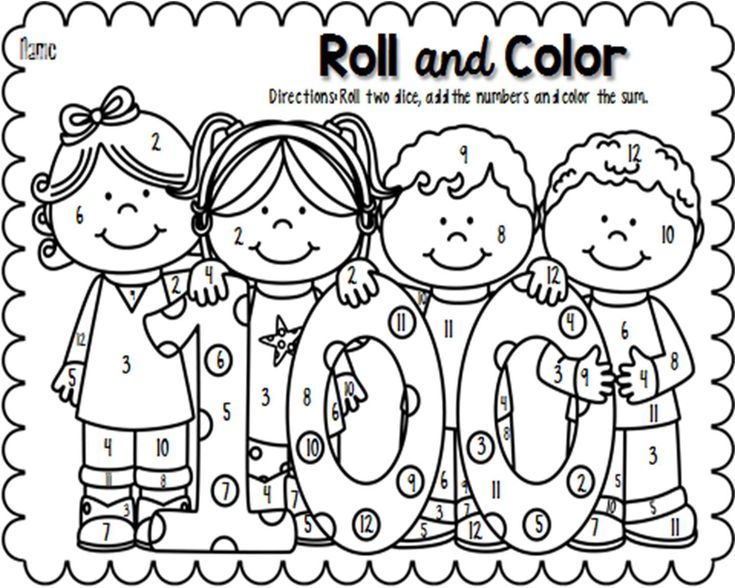 *FREEBIE* Celebrate the 100th day of school by having students practice counting, adding, and number recognition with this 100th day Roll and Color sheet.