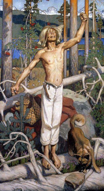 Kullervo Cursing — Akseli Gallen-Kalela, 1899