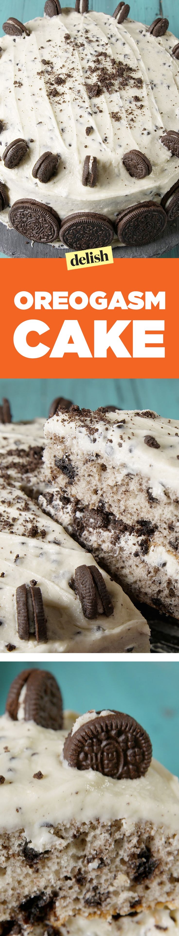 Oreogasm cake takes cookies n' cream to the next level. Get the recipe on Delish.com.