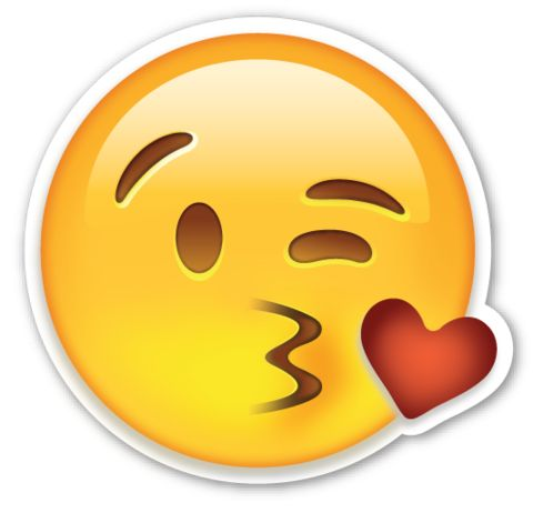 Face Throwing a Kiss | EmojiStickers.com