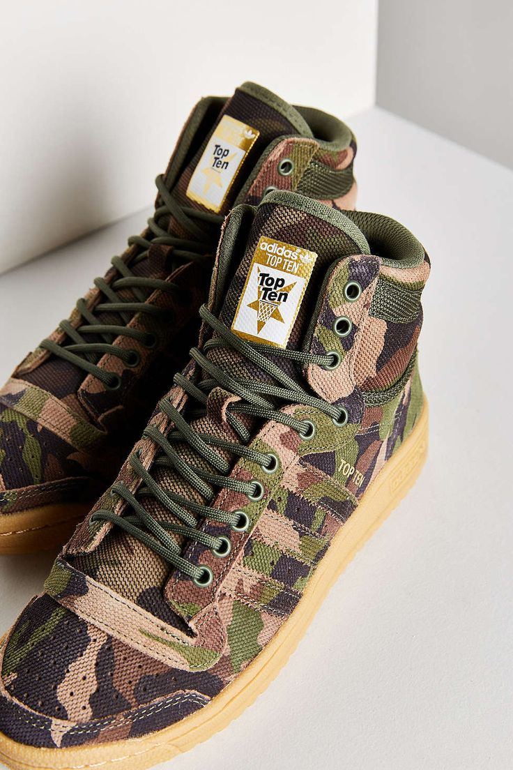 adidas Originals Camo Top Ten Hi Sneaker - Urban Outfitters