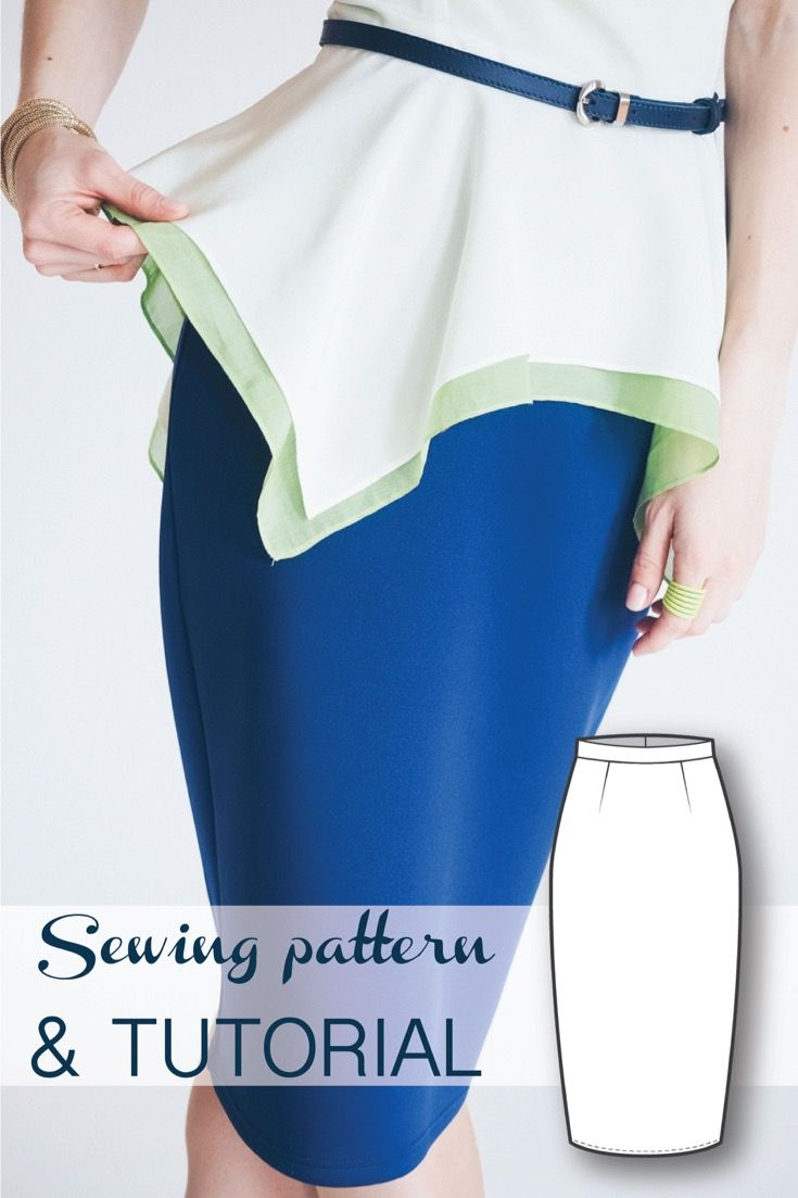Hight Waist Pencil Skirt Sewing Pattern and Sewing Tutorial