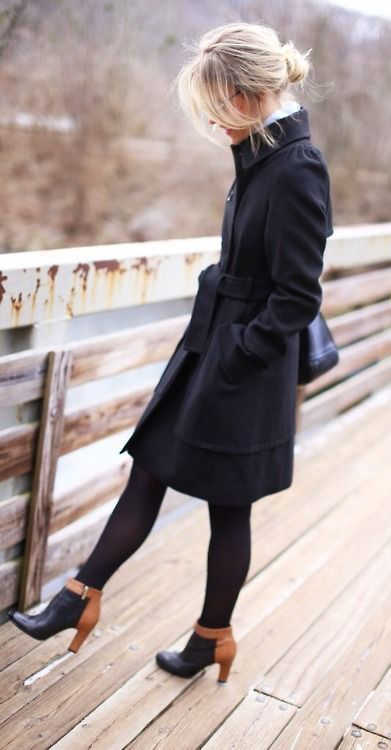 #street #style / all black everything  Love these booties.. they would go with anything!