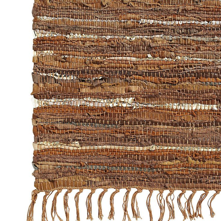 leather rag rug by nordal by idea home co | notonthehighstreet.com