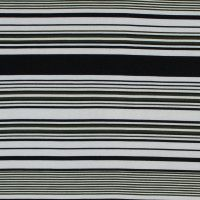 Black and Olive Variegated Striped Jersey
