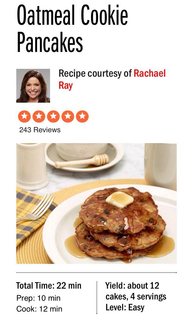 Oatmeal Cookie Pancakes Recipe : Rachael Ray : Food ...