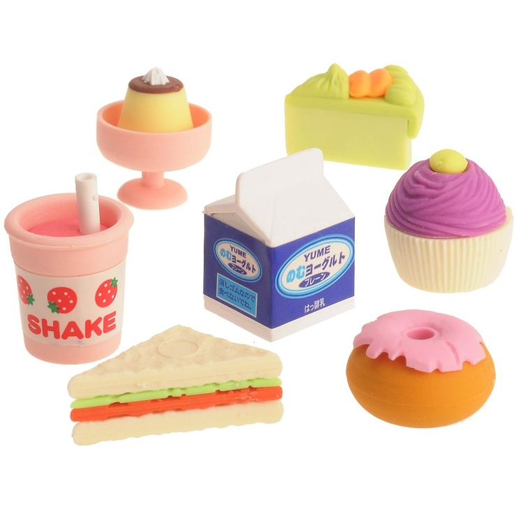 We have these.  They're erasers (non-scented) but we use them in Kiddo's doll play.  She loves feeding this stuff to her Barbies.