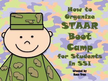 STAAR results are in! Are you a Texas 5th/8th grade teacher in charge of organizing students who will need SSI or summer school? Here are some Boot Camp themed templates to help you organize yourself and your team! This can be used for math or reading.