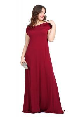 e19c414baf432 Büyük Beden Kibar ve Zarif Öpücük Yaka Abiye Elbise KL126 #abiyeler # abiyemodelleri #elbisemodelleri