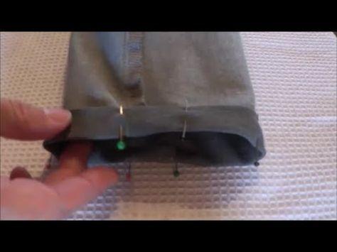 Hose kürzen - einfach (ohne Originalsaum) [Do it yourself] - YouTube