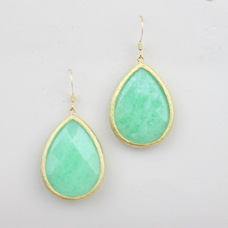 aqua drop earrings from Shop Design Spark