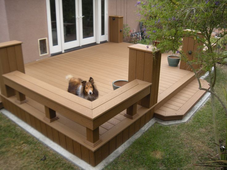 Trex deck built for Murphy the dog to safely exit his dog ...