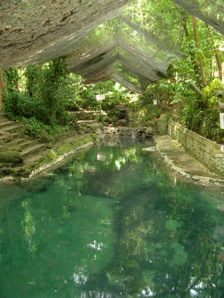 Ardent Hot Spring on Camiguin Island, Philippines. The water, which comes from Mount Hibok-Hibok (a stratovolcano), is quite hot but comfortable enough at 40 degrees centigrade. #philippines #travel