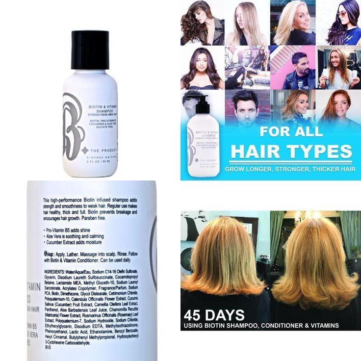 All Natural Biotin Shampoo For Hair Growth Thickening Shampoo For Hair Loss 2oz #BTheProduct