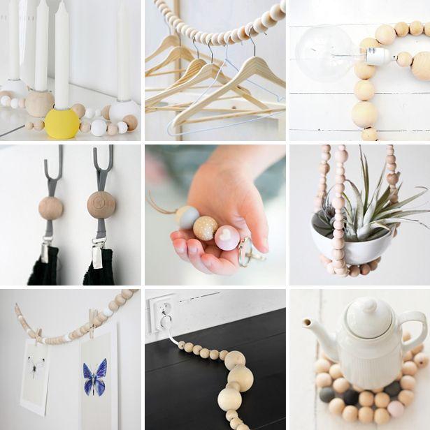 diy wooden beads crafts, wooden balls, craft projects, creatief met houten kralen, diy houten kralen