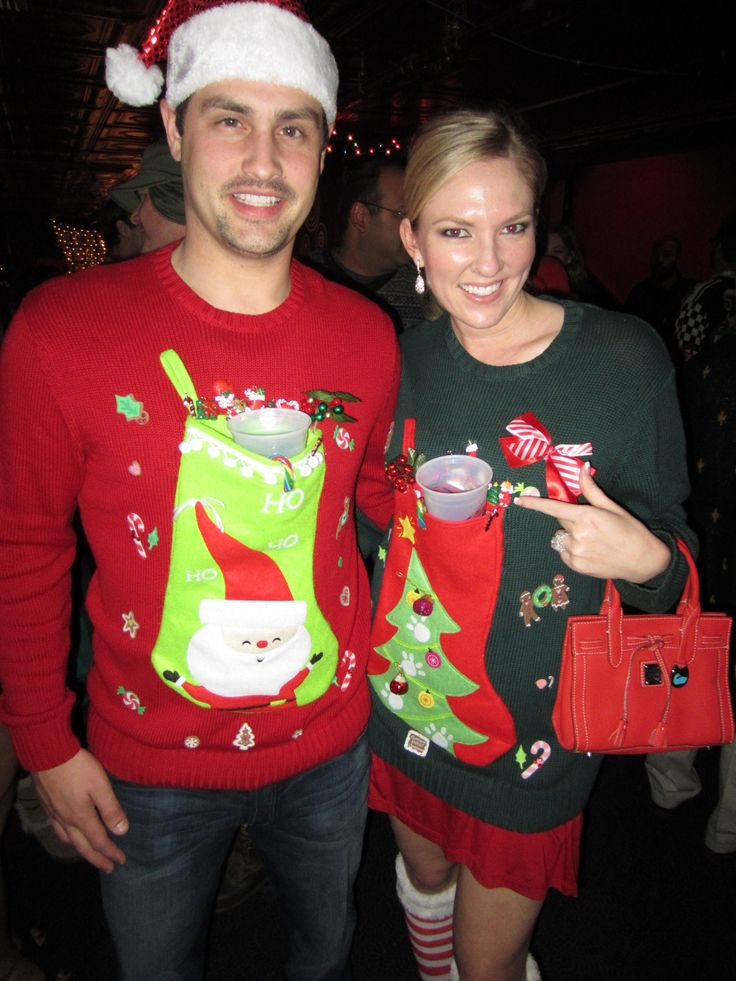 Ugly Christmas sweaters that hold beers