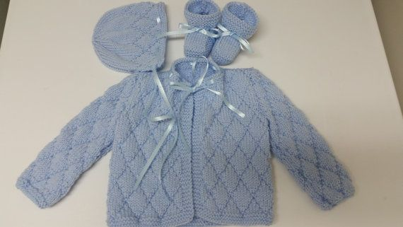 Baby Boy Sweater Set Hand Knitted Baby Boy Sweater Hat