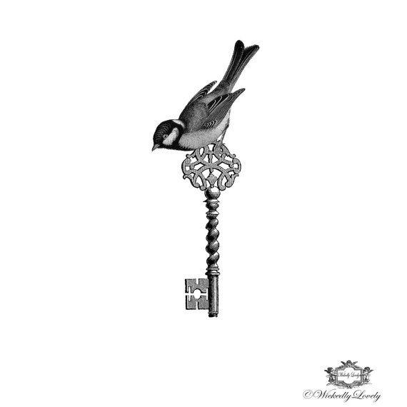 Victorian Bird and Key Wickedly Lovely skin by WickedlyLovelyArt, £3.50