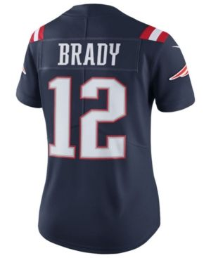 Nike Women's Tom Brady New England Patriots Color Rush Limited Jersey  - Blue L