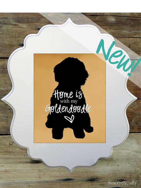 Goldendoodle Art Print 8x10 Art Print by sincerelyally on Etsy