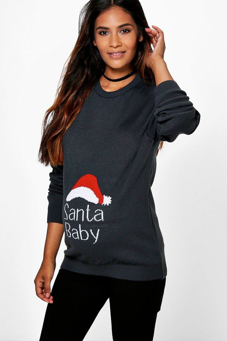 Best 25 pregnancy fashion winter ideas on pinterest winter maternity esme santa baby christmas jumper ombrellifo Images