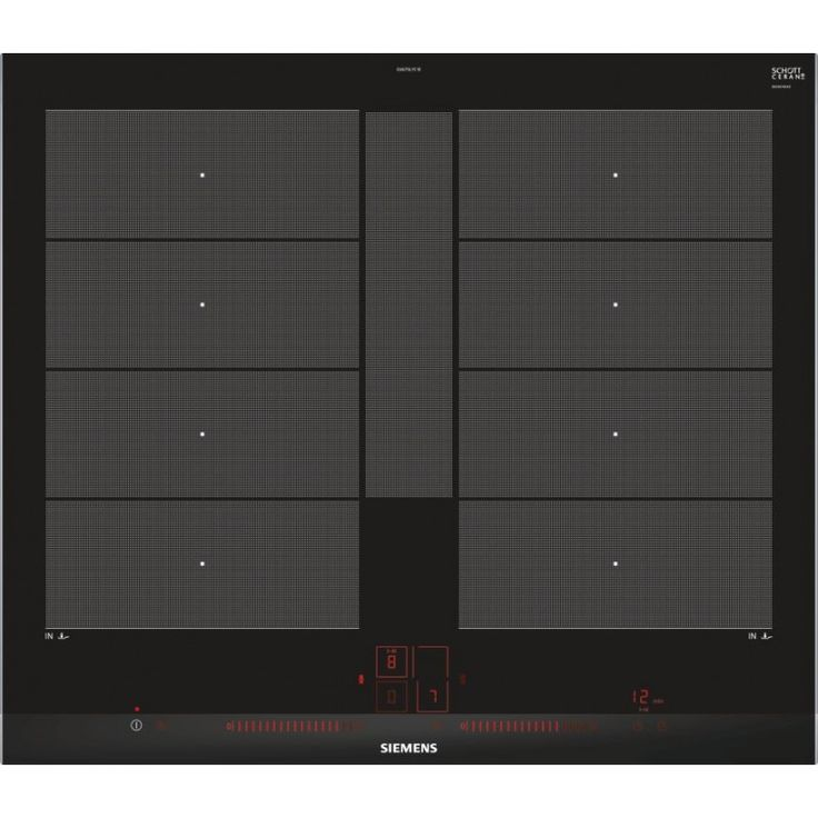 SIEMENS EX675LYC1E 60 cm flexInduction plus induction hob, stainless steel trim, touchSlider plus controls