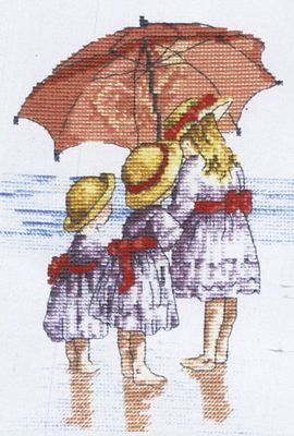 Three Girls - All Our Yesterdays Cross Stitch Kit By Faye Whittaker