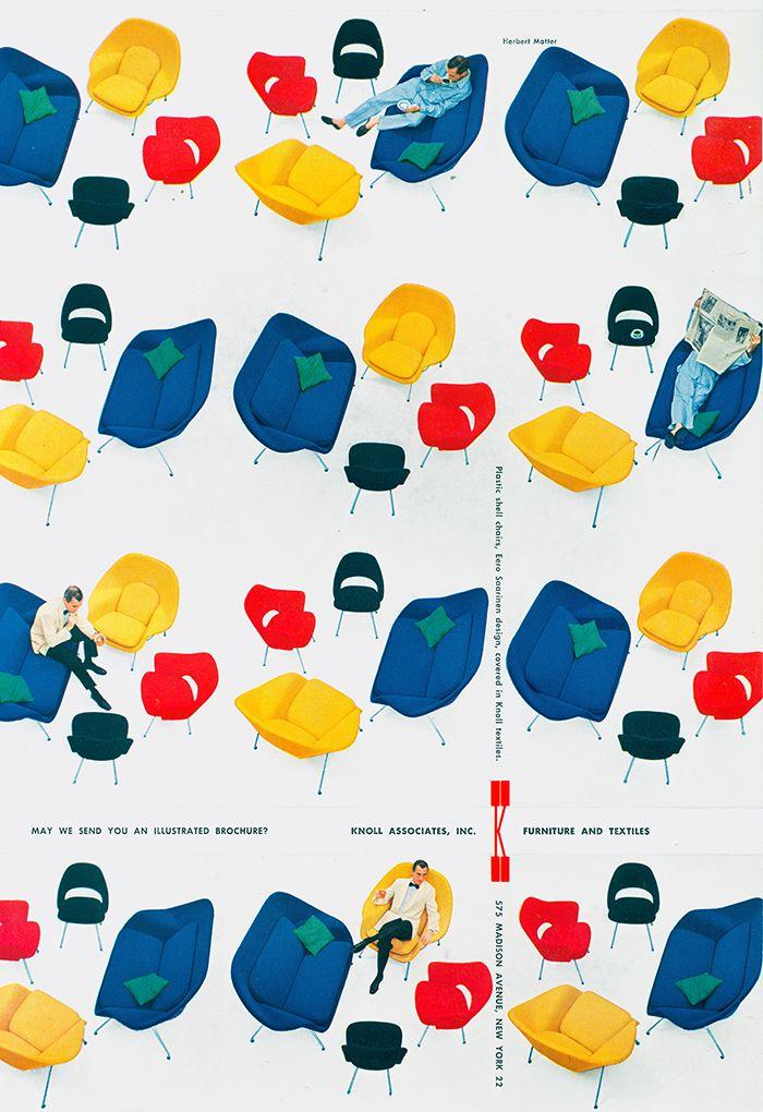 Herbert Matter advertisement for the 70 Series by Eero Saarinen | Knoll Inspiration