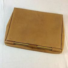 VINTAGE JEAN LOUIS IMBERT LEATHER CLUTCH EVENING BAG FRANCE MADE USED
