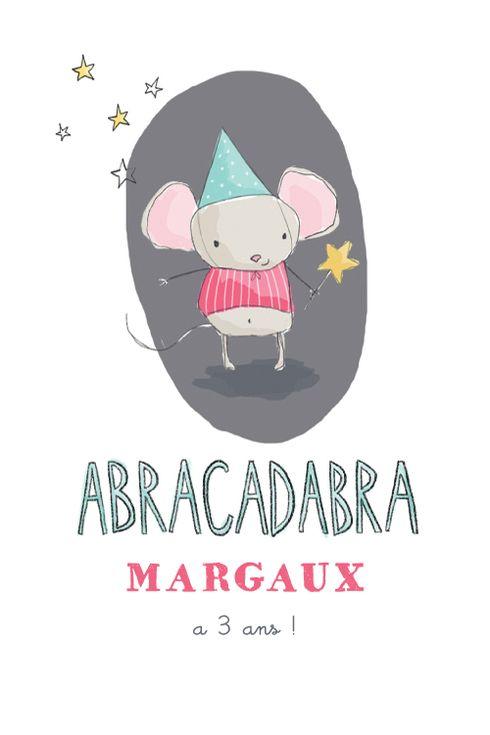 Carte anniversaire Fée by Petite Alma pour www.fairepartnaissance.fr #birthday #kids #invitation #rosemood