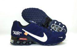 17472fd65cfd81 Men s Nike Air Shox Off White Navy Blue White Total Orange Boys Running  Shoes