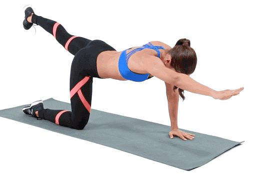 These work on core stability, and they activate the glutes as you work your abs