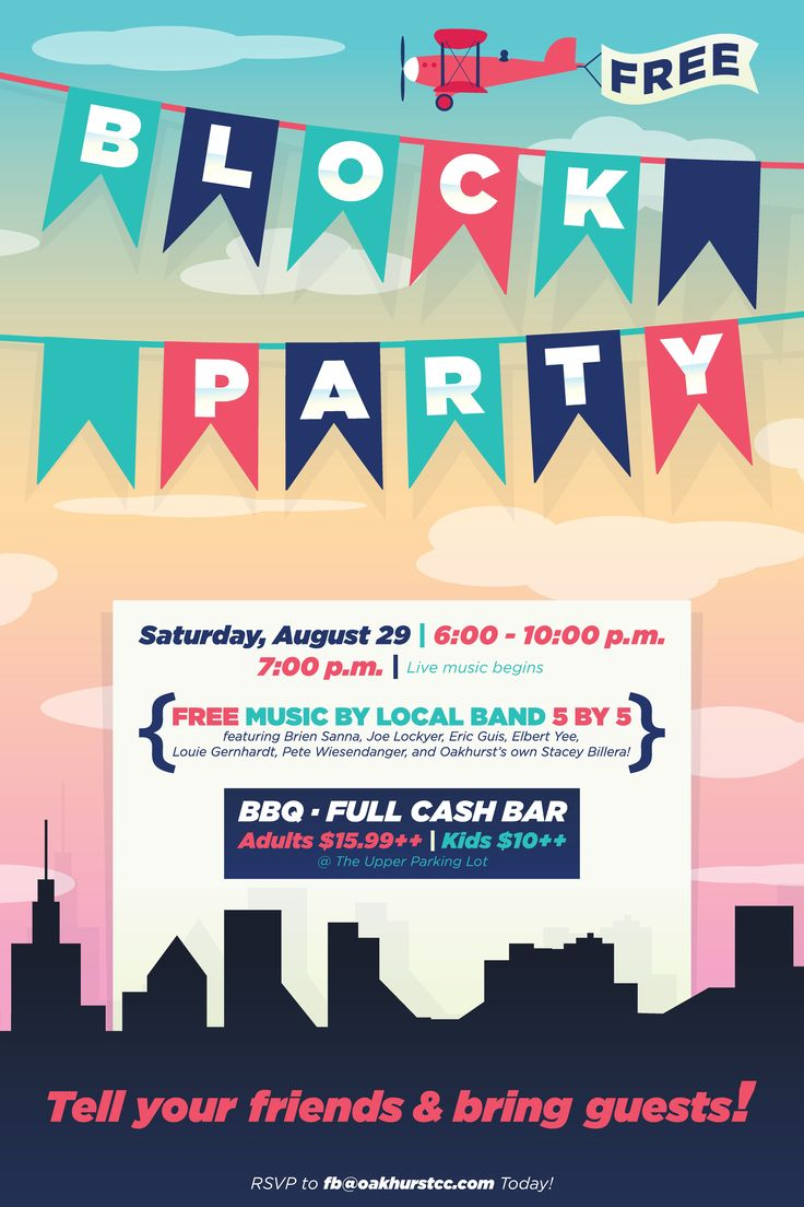 Block Party flyer poster design template