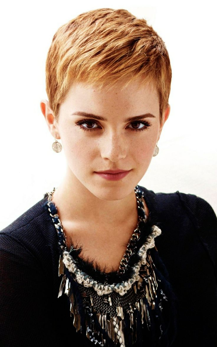 Continue to perfect pixie haircuts part 2 the traditional pixie - 800x1280 Wallpaper Emma Watson Short Hair Red Hair Earrings Blouse